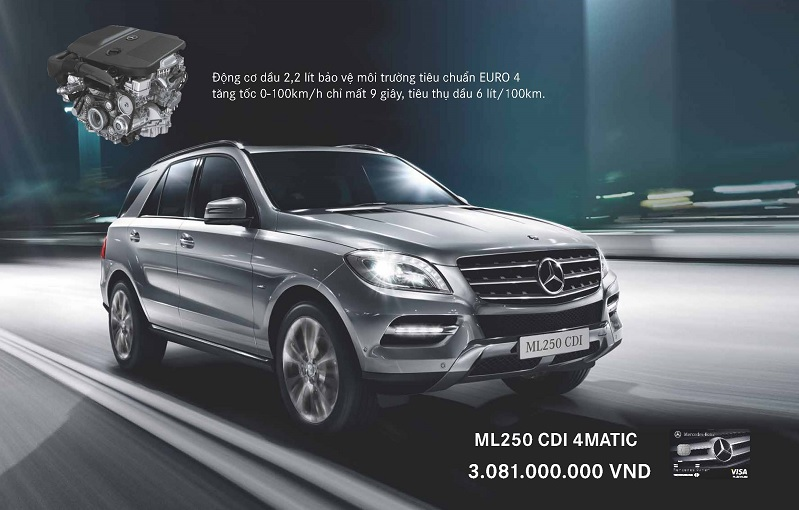 Xe mercedes benz ML250 CDI 4matic