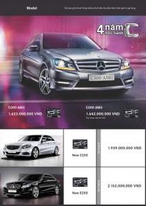 Bảng giá xe mercedes tháng 7 2013