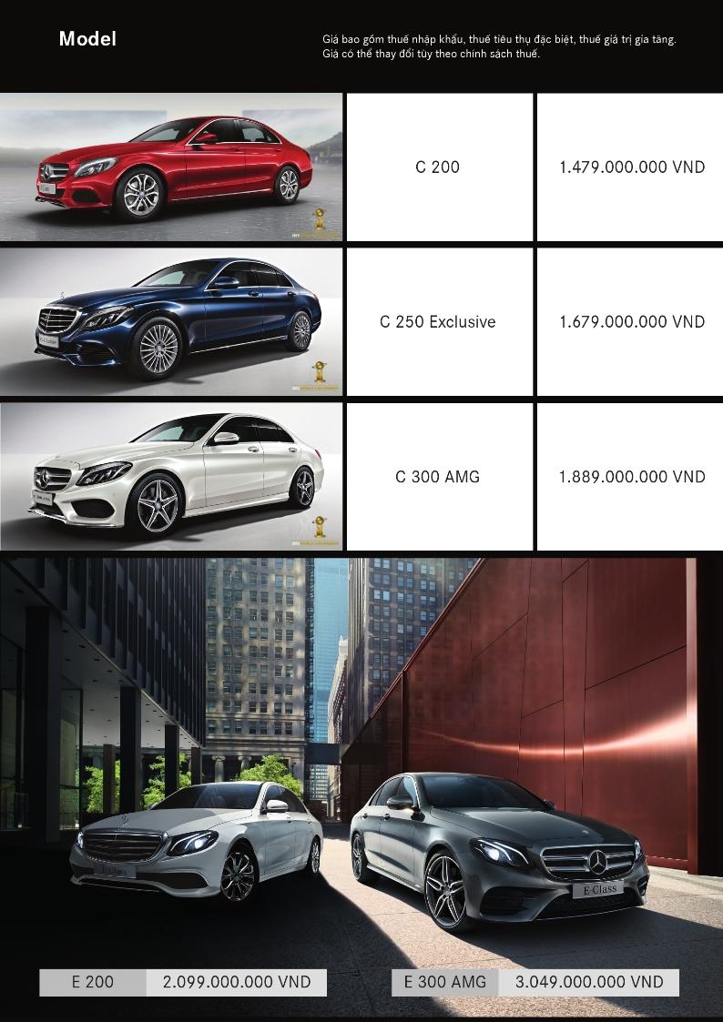 Bảng giá xe mercedes-benz tháng 10 2016
