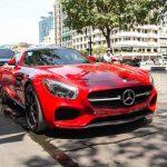 Mercedes-AMG GT-S màu đỏ tái xuất trên đường phố Sài Gòn